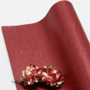 Single-sided Pearlescent Embossed papers, Burgandy, 78cm x 54cm, 1 sheet, (UAV0005)
